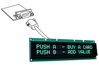 RS232 with Vacuum fluorescent display (VFD) module