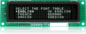 CU24043-Y1A FontTable