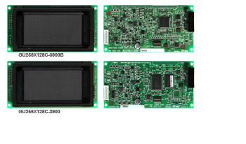 GU256X128C-3900B (top) GU256X128C-3900 (bottom) Vacuum fluorescent display (VFD) module