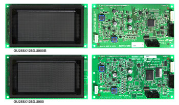 GU256X128D-3900B (top) GU256X128D-3900 (bottom) Vacuum fluorescent display (VFD) module