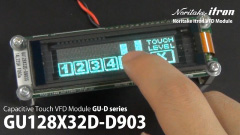 GU128X32D-D903S VFD with touch switch