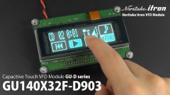 GU140X32F-D903S VFD with touch switch